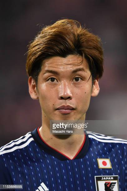 Yuya Osako of Japan looks on after the international friendly match between Japan and Trinidad and Tobago at Toyota Stadium on June 05 2019 in Toyota...