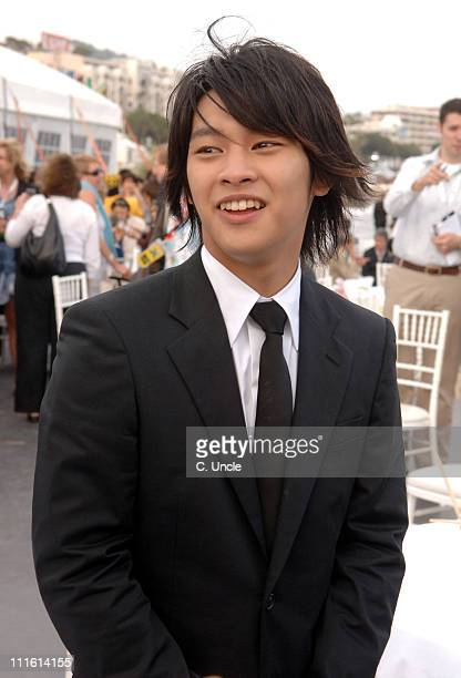 Yuya Yagira during 2006 Cannes Film Festival Fuji Television Party at Majestic Beach in Cannes France