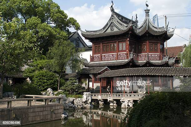 Yuyuan or Yu Garden Old Town Shanghai China Hall of Jade Magnificence in Yuyuan Garden in Old City of Shanghai China Yu Garden or Yuyuan Garden Ye...