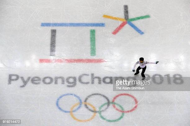 Yuzuru Hanyu of Japan competes in the Figure Skating Men's Single Free Skating on day eight of the PyeongChang 2018 Winter Olympic Games at Gangneung...