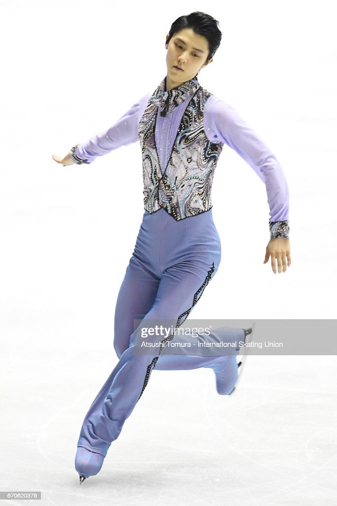 Yuzuru Hanyu of Japan competes in the Men short program during the 1st day of the ISU World Team Trophy 2017 on April 20, 2017 in Tokyo, Japan.