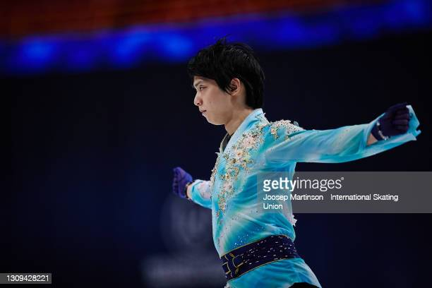 Yuzuru Hanyu of Japan competes in the Men's Free Skating during day four of the ISU World Figure Skating Championships at Ericsson Globe on March 27,...