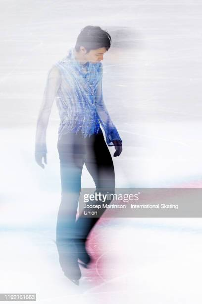 Yuzuru Hanyu of Japan competes in the Men's Short Program during the ISU Grand Prix of Figure Skating Final at Palavela Arena on December 05 2019 in...