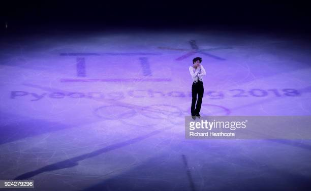 Yuzuru Hanyu of Japan perform during the Figure Skating Gala Exhibition on day 16 of the PyeongChang 2018 Winter Olympics at Gangneung Ice Arena on...