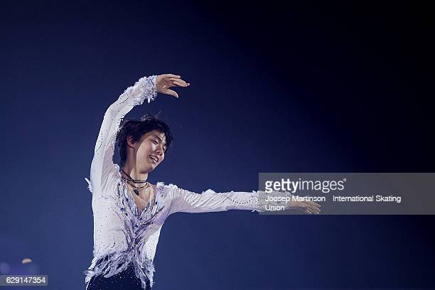 Yuzuru Hanyu of Japan performs during Gala Exhibition on day four of the ISU Junior and Senior Grand Prix of Figure Skating Final at Palais...