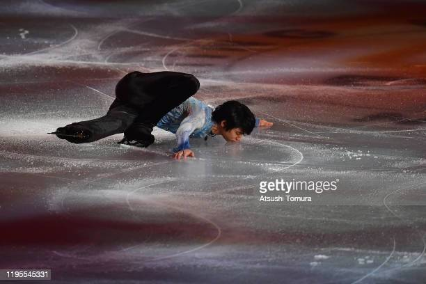 Yuzuru Hanyu of Japan performs during the All Japan Medalist On Ice at the Yoyogi National Gymnasium on December 23, 2019 in Tokyo, Japan.