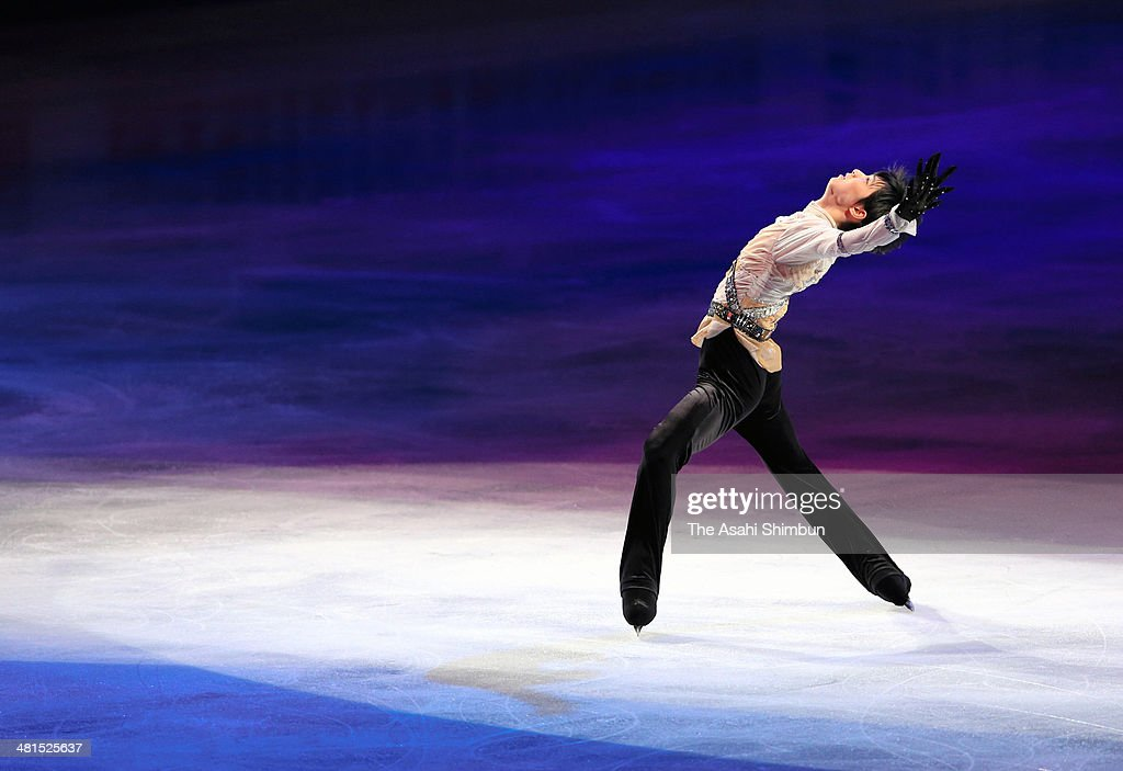 Yuzuru Hanyu of Japan performs during the gala exhibition of the ISU World Figure Skating Championships at Saitama Super Arena on March 30, 2014 in Saitama, Japan.