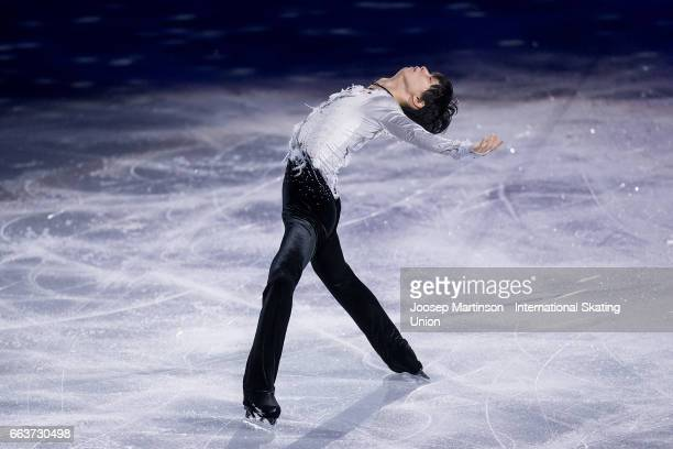 Yuzuru Hanyu of Japan performs in the gala exhibition during day five of the World Figure Skating Championships at Hartwall Arena on April 2 2017 in...