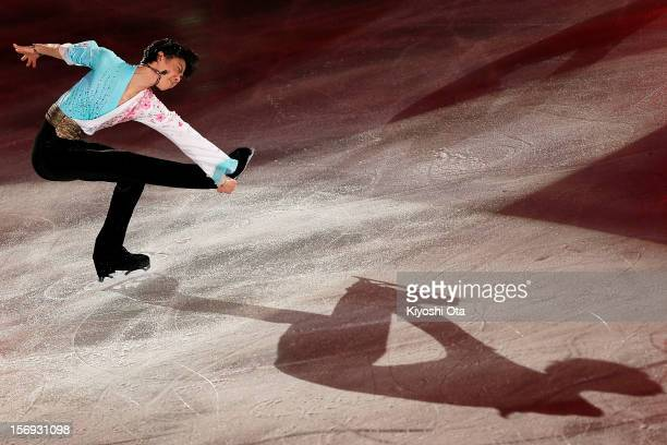 Yuzuru Hanyu of Japan performs in the Gala Exhibition during day three of the ISU Grand Prix of Figure Skating NHK Trophy at Sekisui Heim Super Arena...