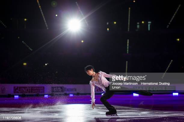 Yuzuru Hanyu of Japan performs in the Gala Exhibition during the ISU Grand Prix of Figure Skating Final at Palavela Arena on December 08, 2019 in...