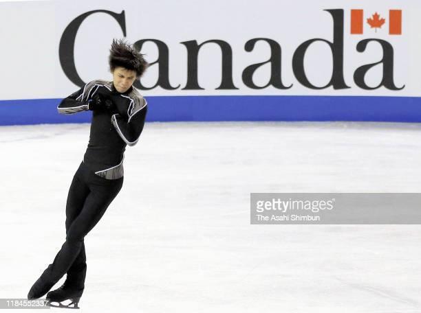 Yuzuru Hanyu of Japan practices during the ISU Grand Prix of Figure Skating Canada at Prospera Place on October 26 2019 in Kelowna Canada