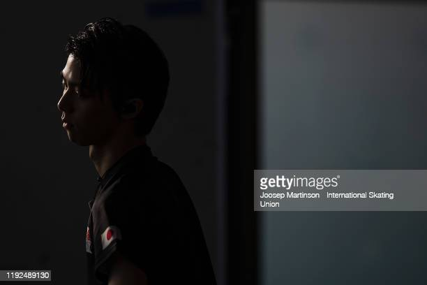 Yuzuru Hanyu of Japan prepares ahead of the Men's Free Skating during the ISU Grand Prix of Figure Skating Final at Palavela Arena on December 07,...