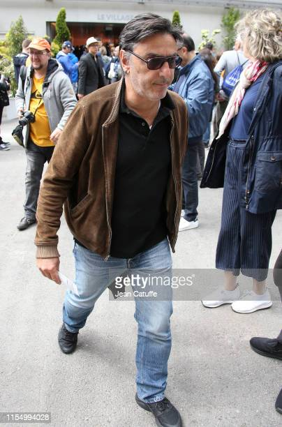 Yvan Attal attends the men's final during day 15 of the 2019 French Open at Roland Garros stadium on June 9 2019 in Paris France