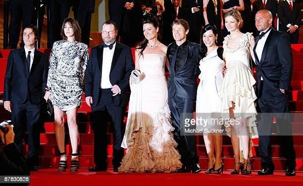 Yvan Attal Charlotte Gainsbourg director Lars von Trier Bente Froge Giada Colagrande Willem Dafoe and Producer Meta Louise Foldager attend the...