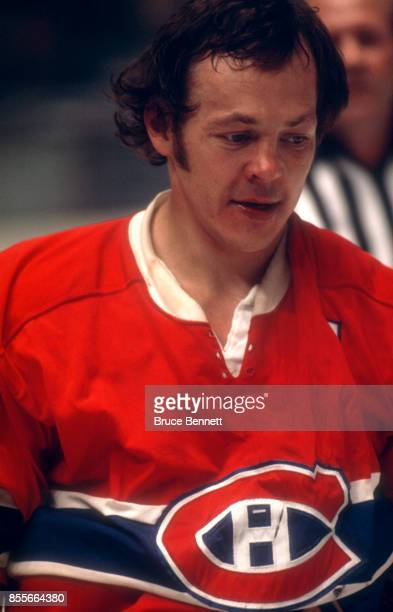 Yvan Cournoyer of the Montreal Canadiens skates on the ice during an NHL game against the New York Rangers circa 1972 at the Madison Square Garden in...