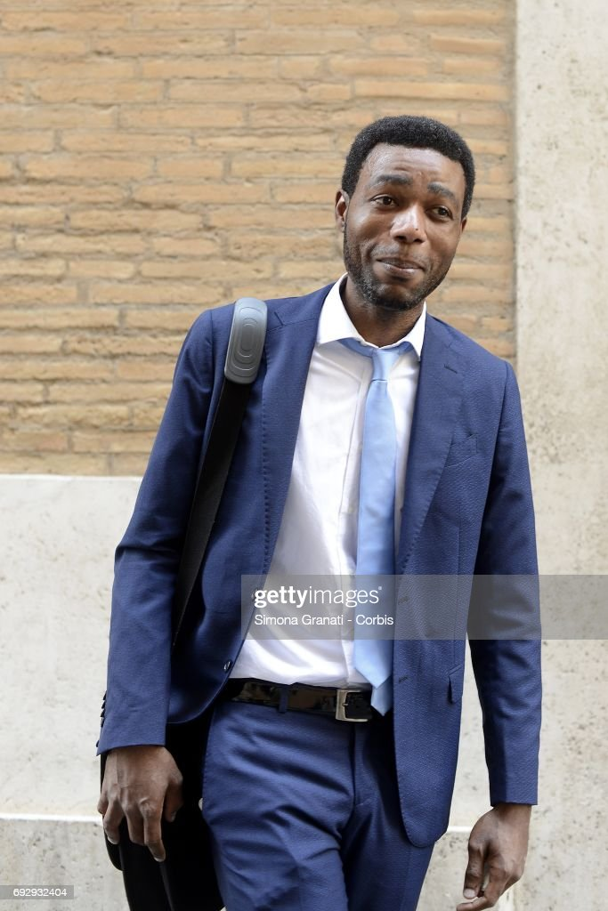 Yvan Sagnet, chairman of the 'No Cap' association, Cameroon engineer leader of the revolt against the 'Caporalato' exploded in Nardo, Puglia, in 2011, on June 6, 2017 in Rome, Italy. Caporalato is the illegal recruitment of agricultural workers, especially migrants, for very low wages. The aim of the international anti-caporalato network designed to promote a new economic and employment model, free from slavery and over-exploitation of environmental and landscape resources.