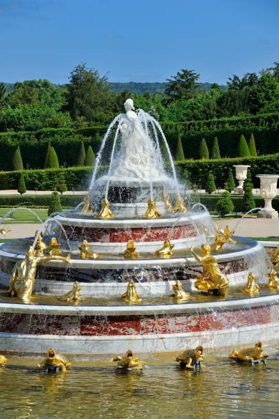 yvelines 78 domaine de versailles les jardins bassin et parterre de latone - Jardin Chateau De Versailles