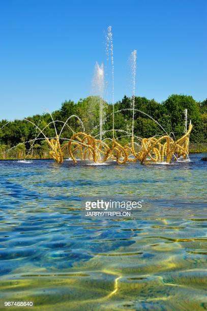Yvelines Domaine de Versailles les Jardins Bosquet du Theatre d'Eau realise par le paysagiste Louis Benech et l'artiste JeanMichel Othoniel sculpture...