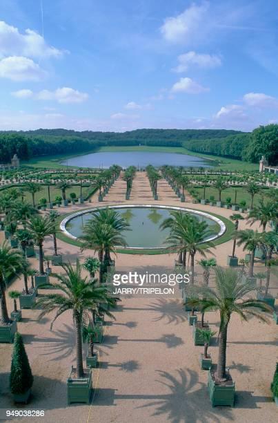 Versailles the Château de Versailles the Orange Grove ornamental pond Yvelines Versailles château de Versailles l'Orangerie pièce d'eau des Suisses