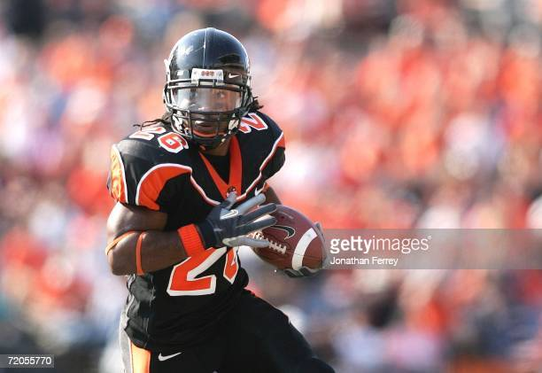 Yvenson Bernard of the Oregon State Beavers against the California Golden Bears on September 29 2006 at Reser Stadium in Corvalis Oregon