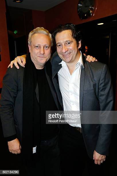 Yves Bigot and Laurent Gerra attend the Laurent Gerra One Man Show at L'Olympia on December 19 2015 in Paris France
