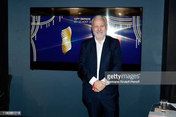 Yves Bigot attends 12th Angouleme FrenchSpeaking Film Festival Press Conference at Studio RTL on July 09 2019 in Neuilly sur Seine France