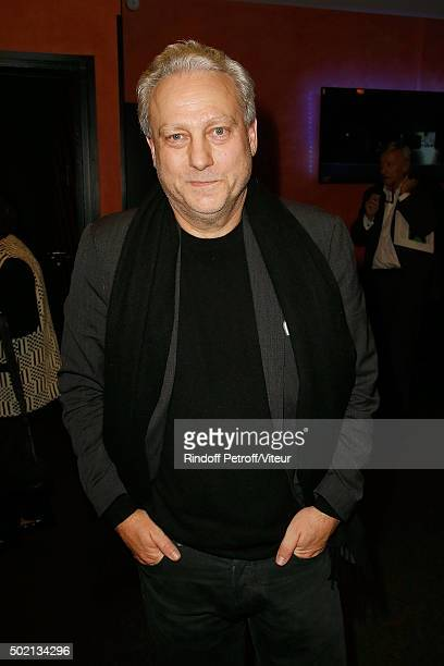 Yves Bigot attends the Laurent Gerra One Man Show at L'Olympia on December 19 2015 in Paris France