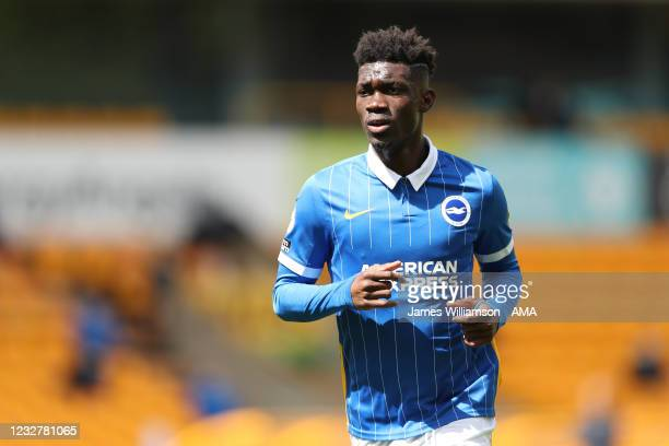 Yves Bissouma of Brighton and Hove Albion during the Premier League match between Wolverhampton Wanderers and Brighton & Hove Albion at Molineux on...