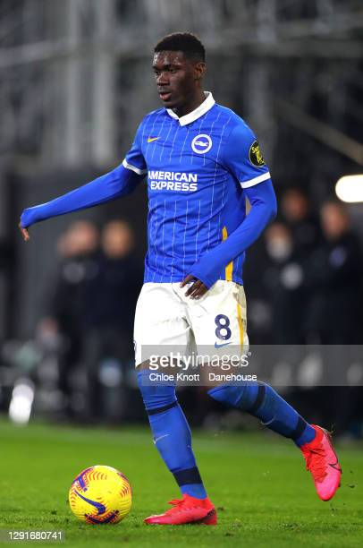 Yves Bissouma of Brighton and Hove Albion during the Premier League match between Fulham and Brighton & Hove Albion at Craven Cottage on December 16,...