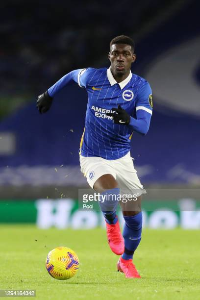 Yves Bissouma of Brighton and Hove Albion runs with the ball during the Premier League match between Brighton & Hove Albion and Wolverhampton...