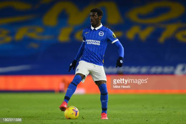 Yves Bissouma of Brighton & Hove Albion in action during the Premier League match between Brighton & Hove Albion and Aston Villa at American Express...