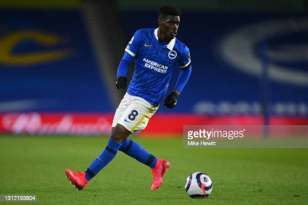 Yves Bissouma of Brighton & Hove Albion in action during the Premier League match between Brighton & Hove Albion and Everton at American Express...