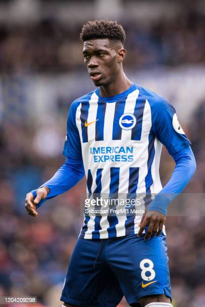 Yves Bissouma of Brighton Hove Albion looks on during the Premier League match between Brighton Hove Albion and Crystal Palace at American Express...