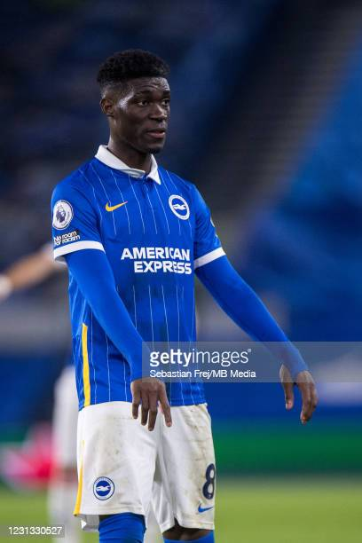Yves Bissouma of Brighton & Hove Albion looks on during the Premier League match between Brighton & Hove Albion and Crystal Palace at American...