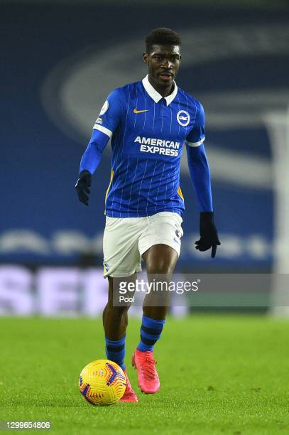 Yves Bissouma of Brighton & Hove Albion runs with the ball during the Premier League match between Brighton & Hove Albion and Tottenham Hotspur at...