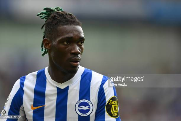 Yves Bissouma of Brighton looks on during the Premier League match between Brighton & Hove Albion and Everton at American Express Community Stadium...