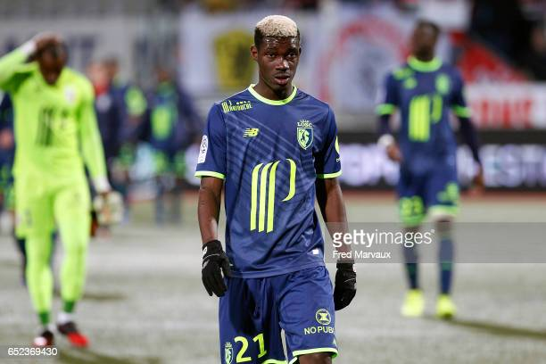 Yves Bissouma of Lille during the Ligue 1 match between As Nancy Lorraine and Lille OSC at Stade Marcel Picot on March 11 2017 in Nancy France