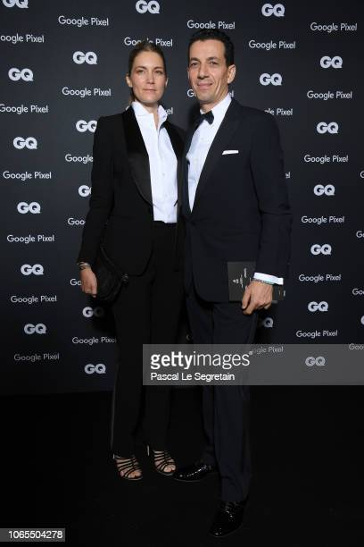 Yves Bougon and a guest attend GQ Men Of The Year Awards 2018 at Centre Pompidou on November 19 2018 in Paris France