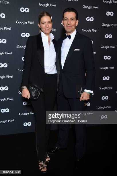 Yves Bougon and a guest attends GQ Men Of The Year Awards 2018 at Centre Pompidou on November 26 2018 in Paris France