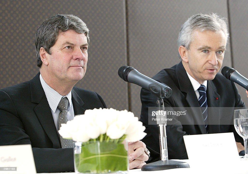6b9bfae9084 Yves Carcelle, ceo of Louis Vuitton International and Bernard Anault ...