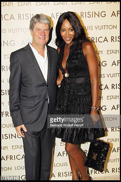 Yves Carcelle Naomi Campbell at Every Journey Began In Africa Party For The Exhibition Africa Rising And The Discovery Of The Collaboration Between...