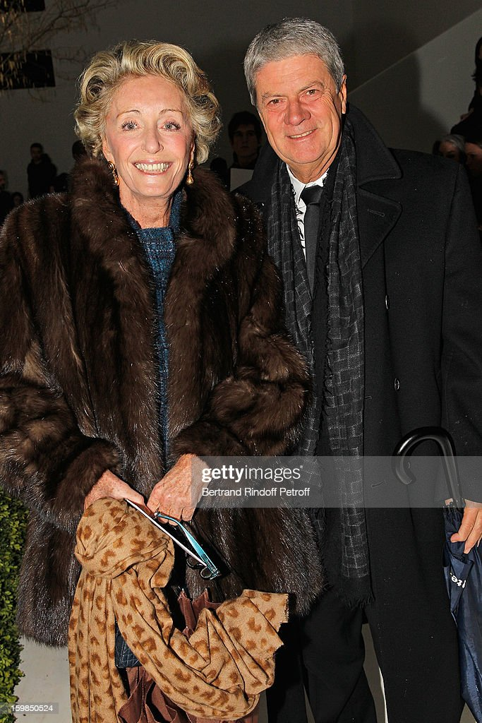 Yves Carcelle, Vice-President of the Louis Vuitton Corporate Foundation for Creation , and member of the LVMH Executive Committee (R) and Ariane Dandois attends the Christian Dior Spring/Summer 2013 Haute-Couture show as part of Paris Fashion Week at on January 21, 2013 in Paris, France.