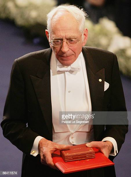Yves Chauvin of France receives the joint Nobel Prize for Chemistry during the Nobel Foundation Prize 2005 at the Concert Hall on December 10 2005 in...