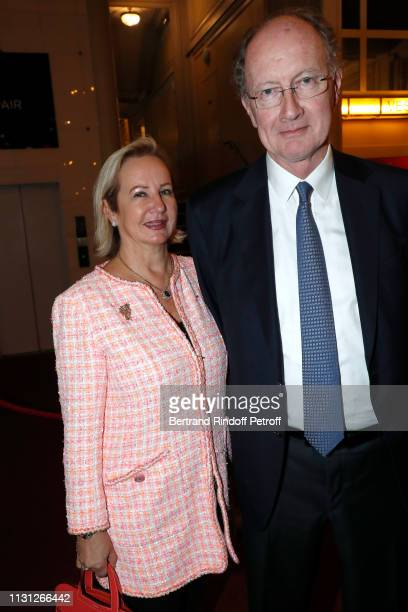 Yves de Gaulle and his wife Laurence de Gaulle attend the Fondation Prince Albert II De Monaco Evening at Salle Gaveau on February 21 2019 in Paris...