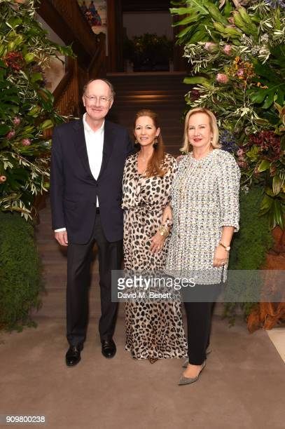 Yves de Gaulle, Clara Martinez Thedy de Safa, and Laurence de Gaulle attend photography exhibition & book launch 'Africa Serena: 30 Years Later' on...