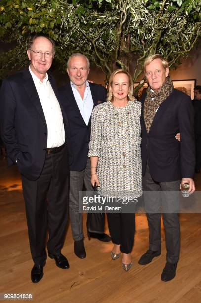 Yves de Gaulle, Paolo Moschino, Laurence de Gaulle, and Philip Vergeylen attend photography exhibition & book launch 'Africa Serena: 30 Years Later'...