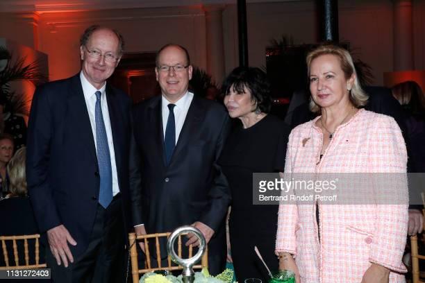 Yves de Gaulle Prince Albert II De Monaco Baroness Paul Hottinguer and Laurence de Gaulle attend the Fondation Prince Albert II De Monaco Evening at...