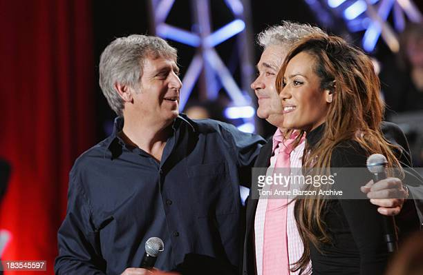 Yves Duteil Pierre Perret and Amel Bent perform at L'Olympia on January 20 2010 in Paris France
