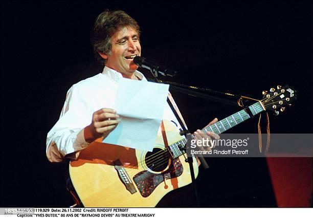 Yves Duteil Raymond Devos 80th birthday at the Marigny theater guitar microphone
