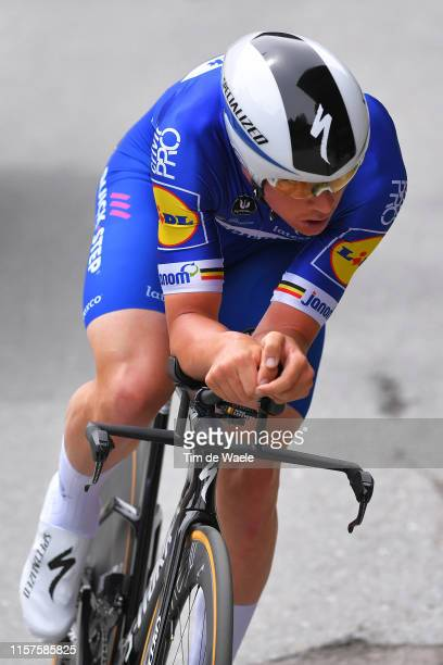 Yves Lampaert of Belgium and Team Deceuninck - Quick-Step / during the 83rd Tour of Switzerland, Stage 8 a 19,2km Individual Time Trial stage from...
